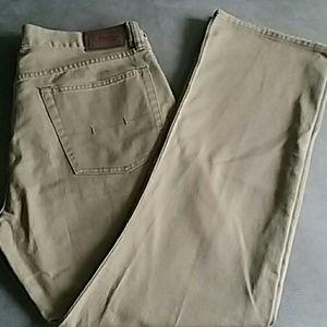 Ralph Lauren polo 36 x 32 jeans tan straight legs